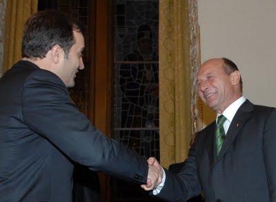 Premierul RM, Vladimir Filat, mizeaza pe sprijinul presedintelui roman Basescu