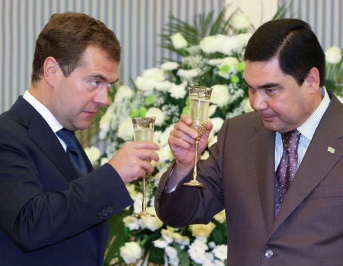 Presedintele rus Medvedev si liderul turkmen saboteaza Nabucco