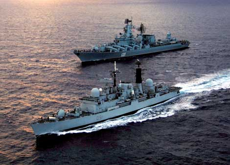 Flota militara rusa, gata sa apere Abhazia