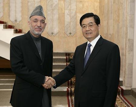 Karzai Hu Jingtao