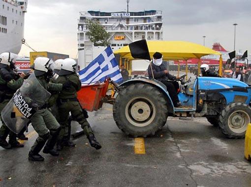 Criza financiara a provocat proteste violente in Grecia