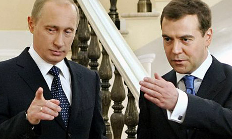 Tandemul Putin-Medvedev, pregatit pentru o rocada pasnica