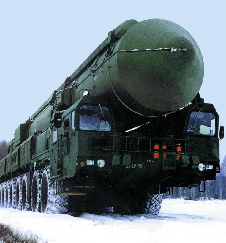 Racheta rusa Topol M, posibila tinta a scutului SUA