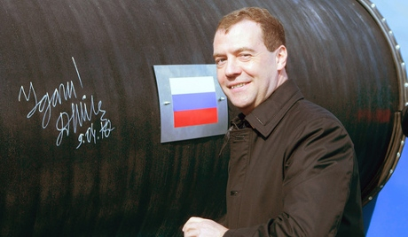 Presedintele rus Medvedev a dat startul la Nord Stream