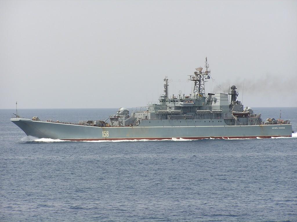 Nava de desant maritim Cezar Kunikov, arma politica rusa la Marea Neagra