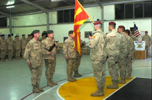 Falanga macedoneana, pregatita pentru debarcarea din Afganistan