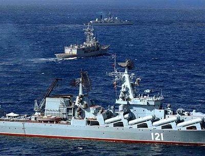 Navele militare rusesti ameninta echilibrul din Marea Mediterana
