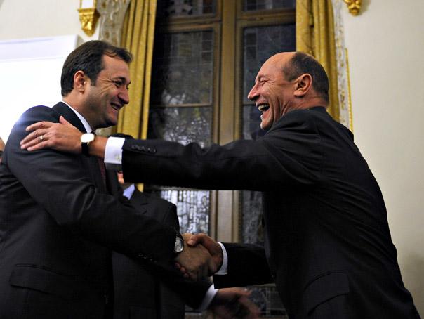 Presedintele roman Traian Basescu sprijina guvernul premierului Vladimir Filat