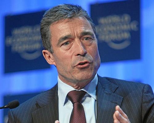 Secretarul general al NATO, Anders Fogh Rasmussen, sprijina aderarea Georgiei la NATO