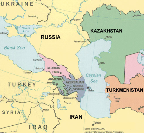 Canalul Eurasia va lega Marea Caspica de Marea Neagra
