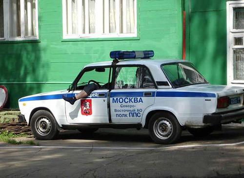 PoliceCarRussiaMoscowLeg