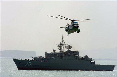 Fortele navale iraniene patruleaza Marea Caspica