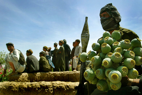 Comertul cu droguri finanteaza rezistenta talibana