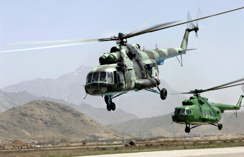 Elicoptere rusesti pentru talibanii drogurilor din Afganistan