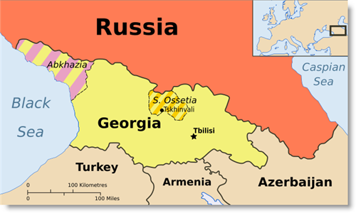 russia-georgia-map
