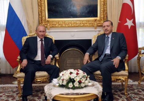 Premierul rus Putin negociaza sferele de influenta din Marea Neagra cu omologul sau turc Erdogan