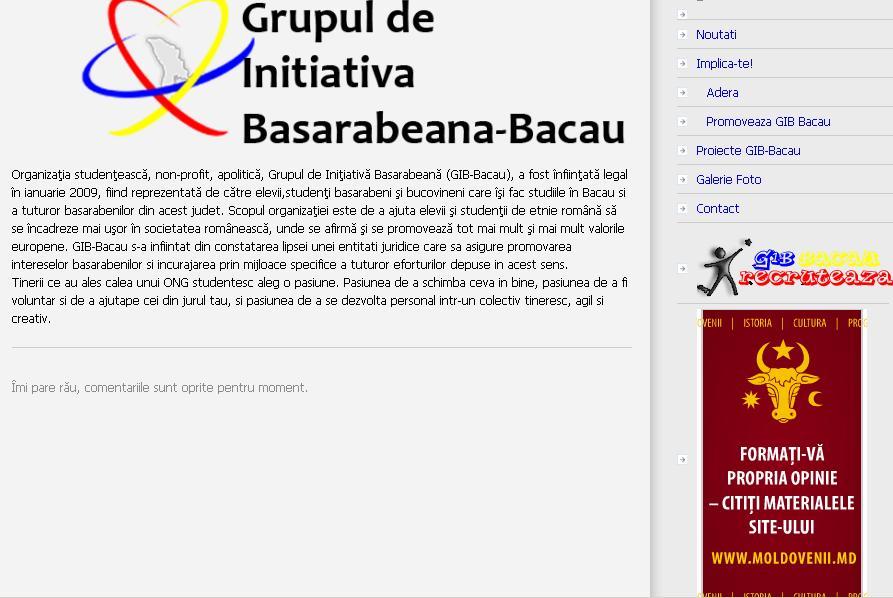 GIRB Bacau atenteaza la securitatea nationala a Romaniei