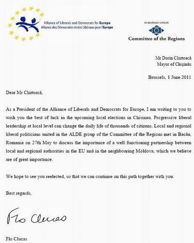 ALDE il sprijina pe Chirtoaca