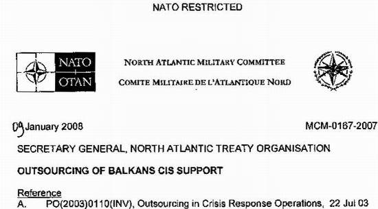 anonymous document NATO