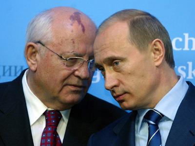 GERMANY-RUSSIA-PUTIN-GORBACHEV