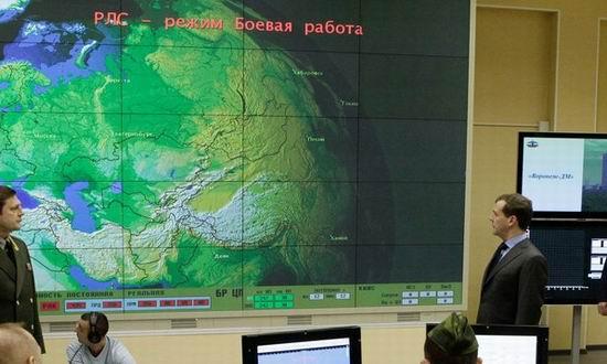 Medvedev la statia radar din Kaliningrad