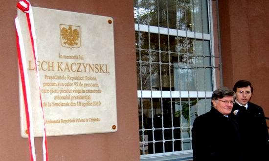 Placa memoriala Kaczynski