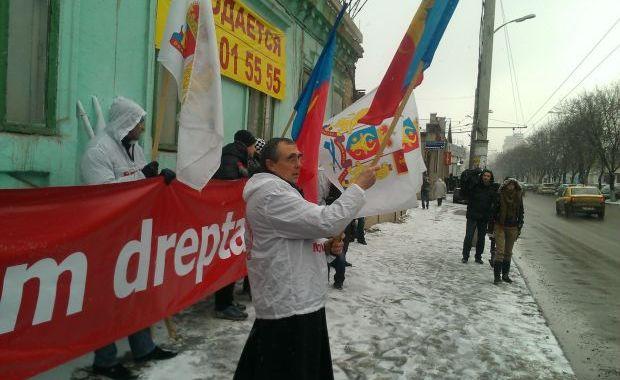 proteste ambasada Romania Chisinau 6534