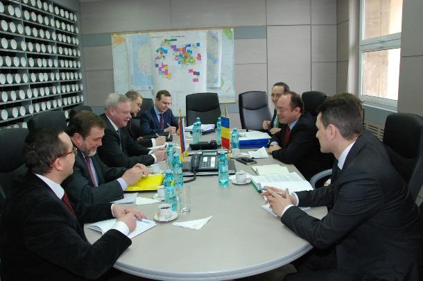 Întrevedere la MAE român între secretarul de stat, Bogdan Aurescu și adjunctul ministrului afacerilor externe al Federatiei Ruse, Vladimir Titov