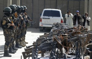 Afghanistan's security forces stand guar