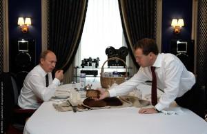 Presedinte rus, Vladimir Putin si premierul Dmitri Medvedev