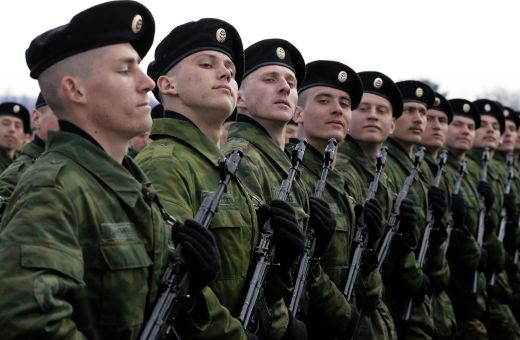 Moscow Puts Military Hardware On Show During Parade Rehearsal