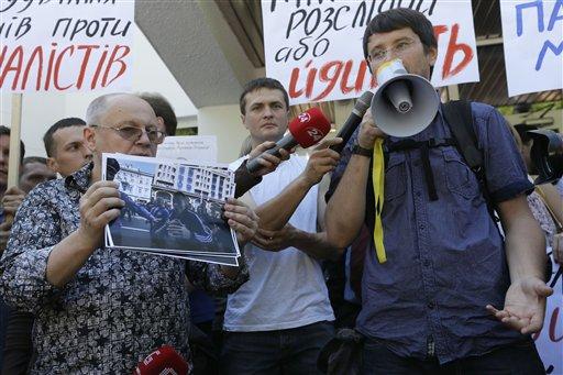 Ukraine Media Protest