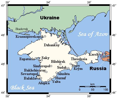 Peninsula Crimeea, pamant rusesc