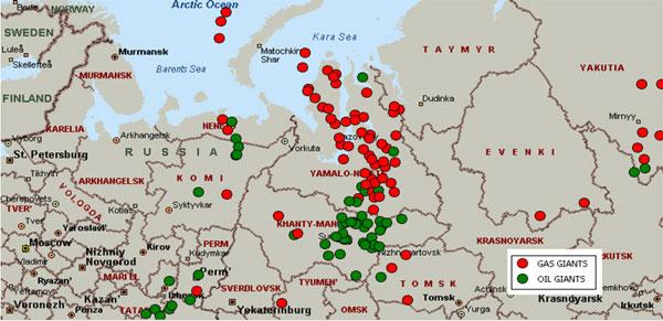 Rusia dispune de rezerve imense de petrol si gaze