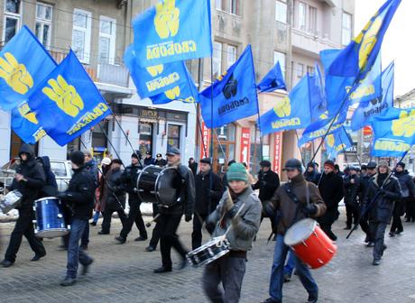 Formatiunea nationalista ucraineana Svoboda ameninta pacea interetnica din Transcarpatia