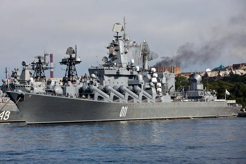 Crucisatorul rus Varyag, pregatit sa intre in Marea Mediterana
