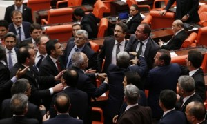 Scuffles in Turkish parliament over judicial reforms