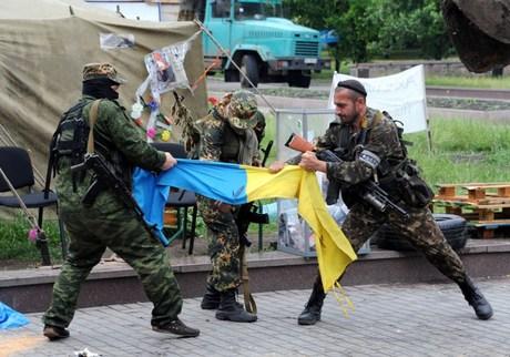 Membri ai batalionului rusesc Vostok