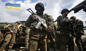 Ukrainian army troops receive munitions on the outskirts of Izyum
