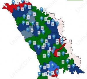 harta interactiva locale Republica Moldova  2015