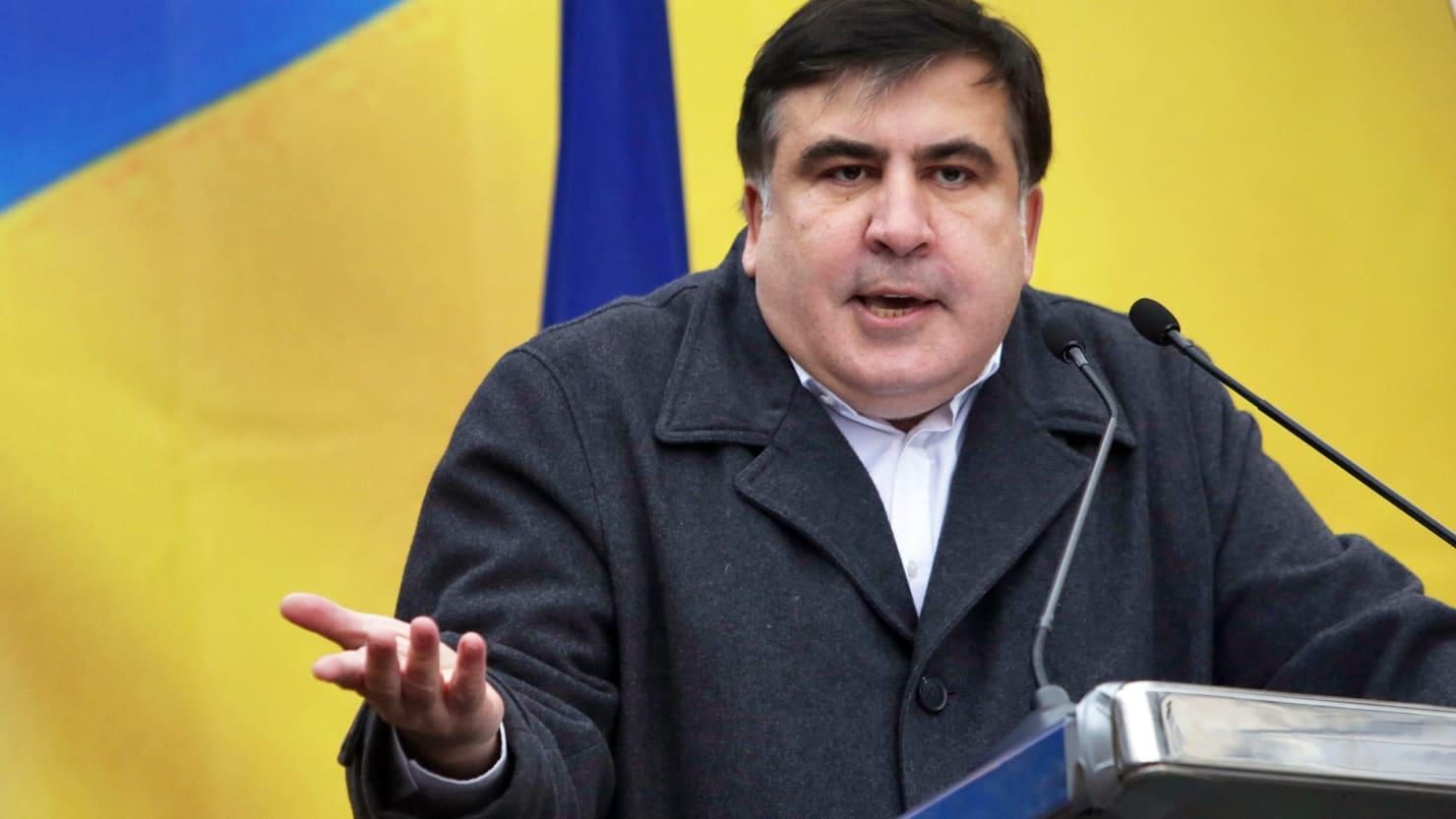 Mihail Saakashvili, dusman declarat al autoritatilor de la Kiev, interzis de presedintele Porosenko