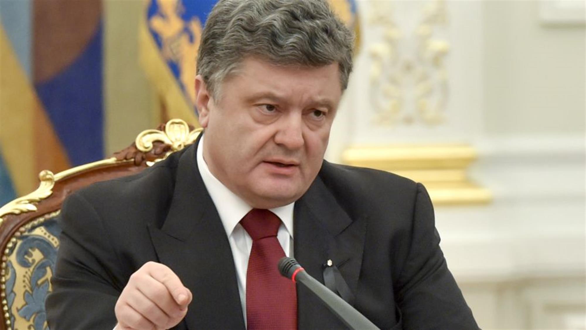Liderul de la Kiev, Petro Poroșenko, candidat oficial pentru al doilea mandat prezidențial