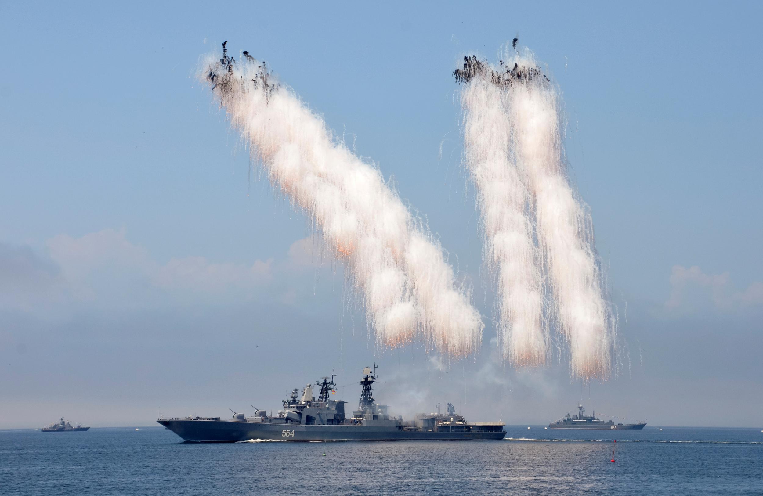 Flota militară rusă din Marea Caspică a atacat cu succes ținte de pe frontul sirian folosind rachetele Kalibr