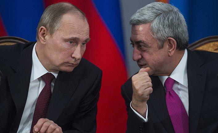 Fostul președinte armean, Serj Sargsyan, este un vechi aliat al liderului rus, Vladimir Putin