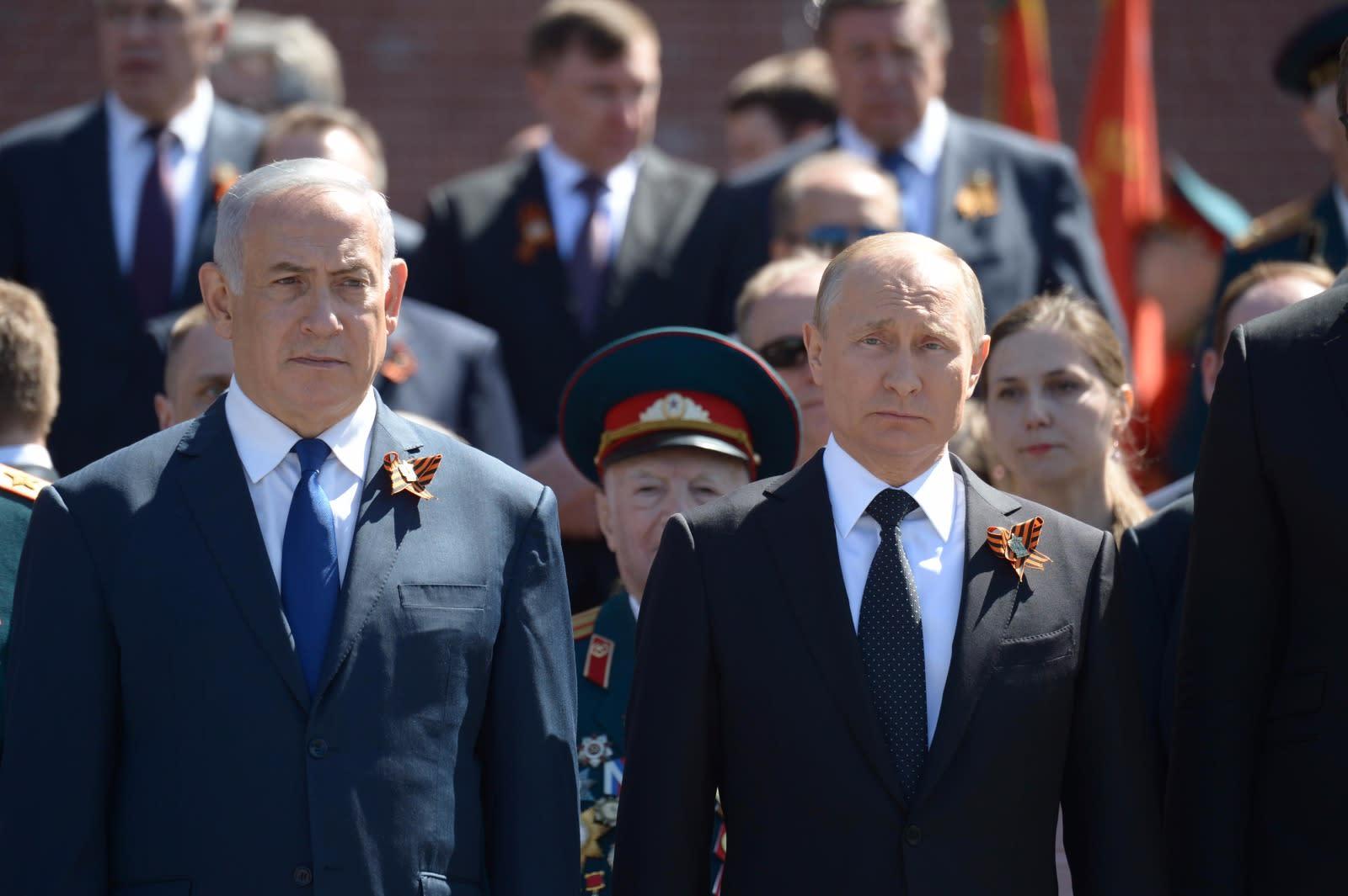 Liderul rus, Vladimir Putin, s-a bucurat de prezența premierului israelian Benjamin Netanyahu la festivitățile din data de 9 mai