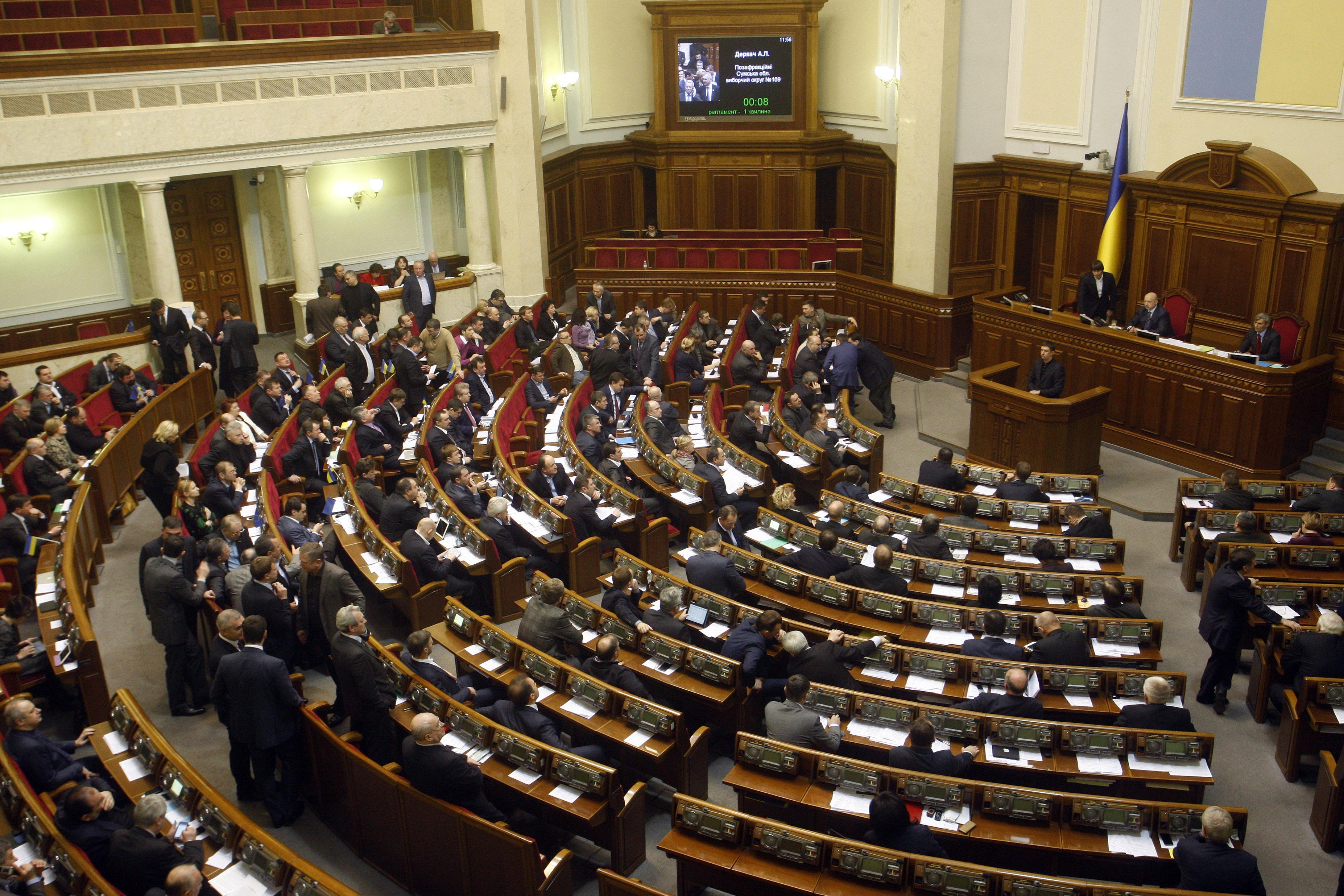 Noua putere de la Kiev controlează Rada Supremă