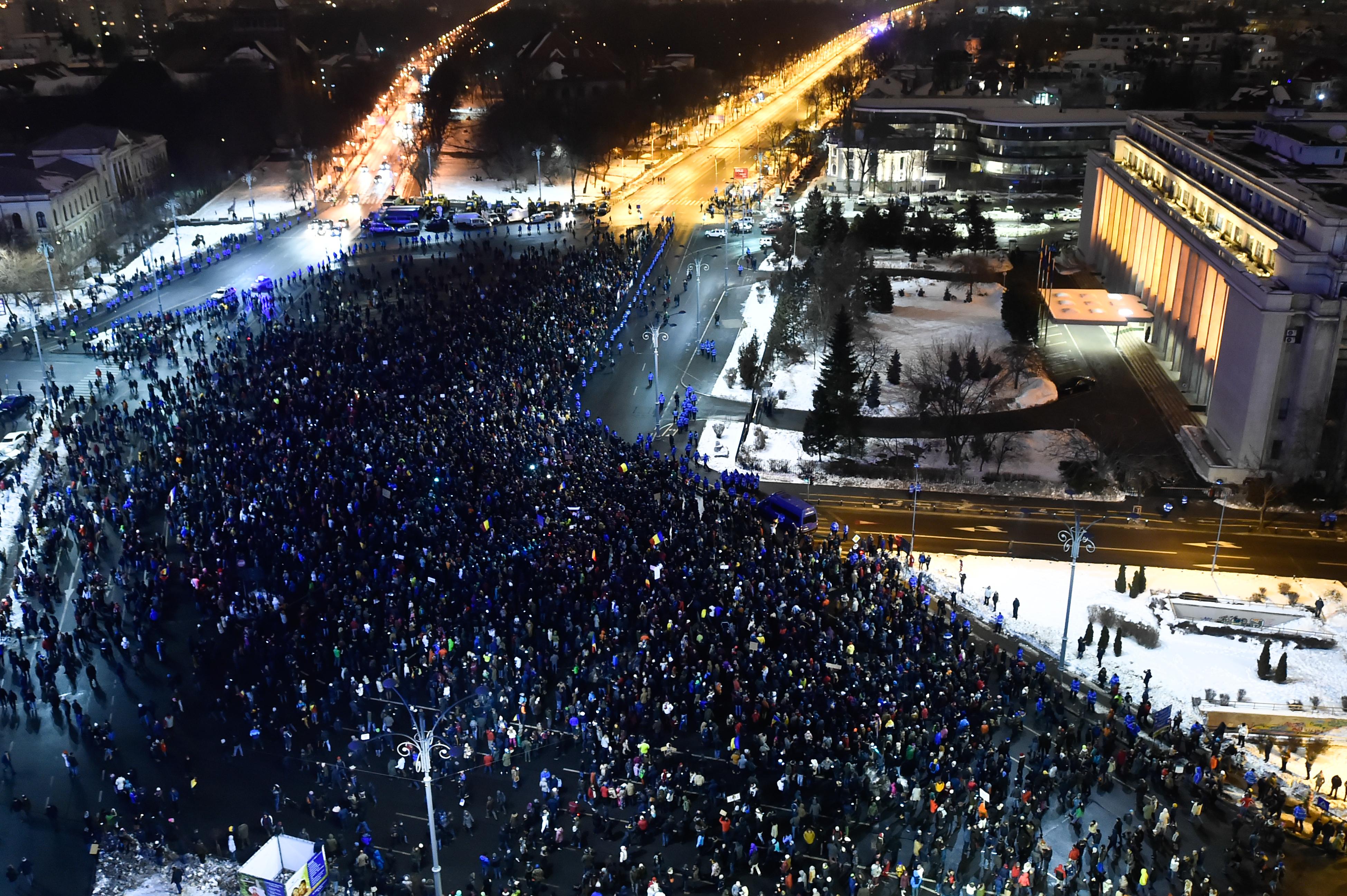 Protestele de la București împotriva modificărilor legislative