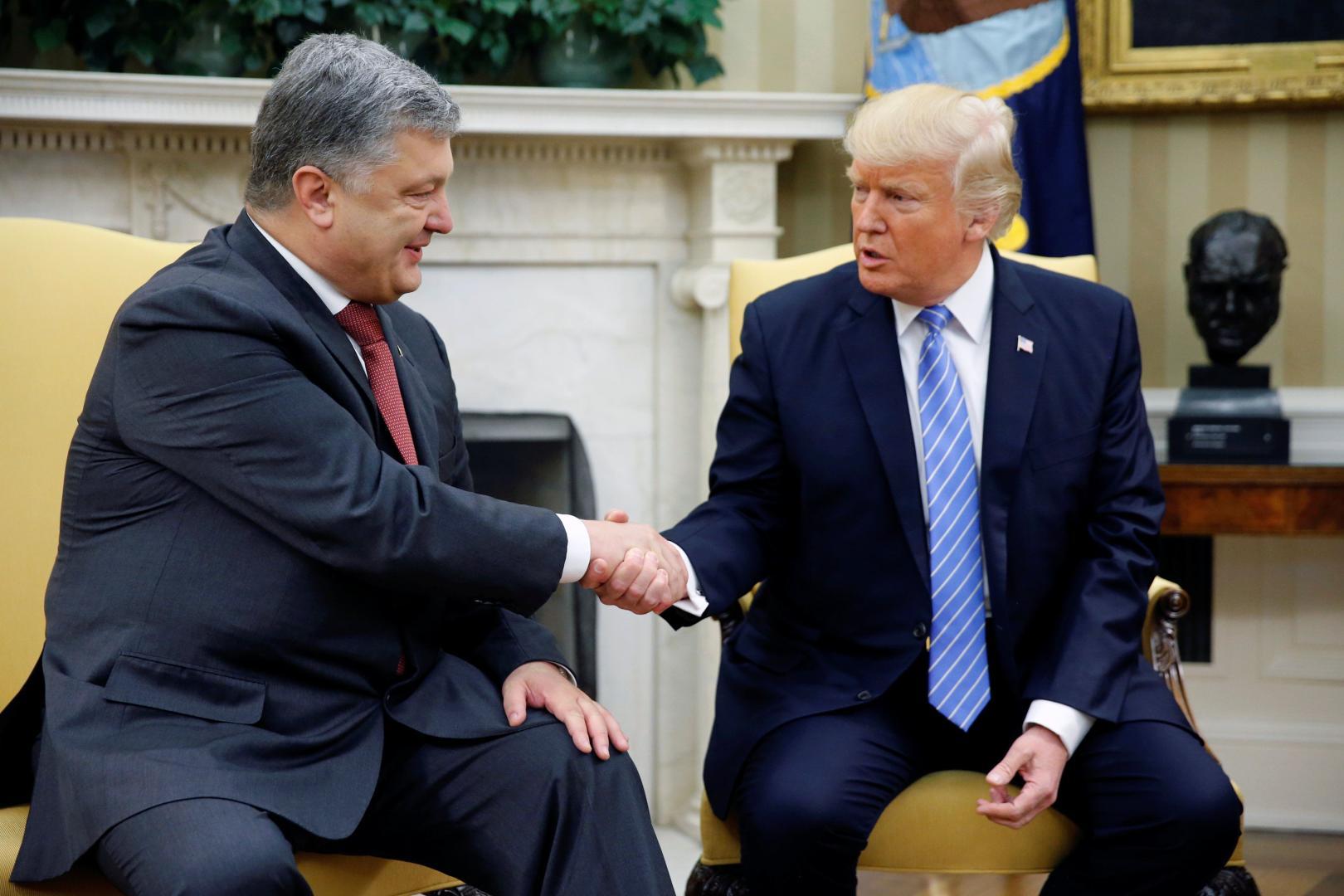 Președintele Ucrainei, Petro Poreșenko a avut o întrevedere cu omologul său american Donald Trump