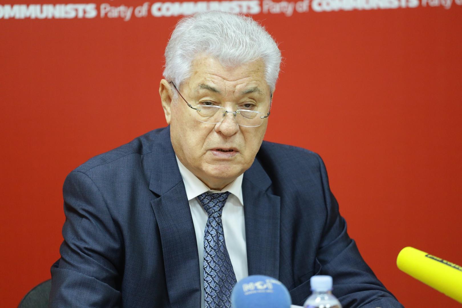 Liderul comunist Vladimir Voronin atacă UE în scop electoral