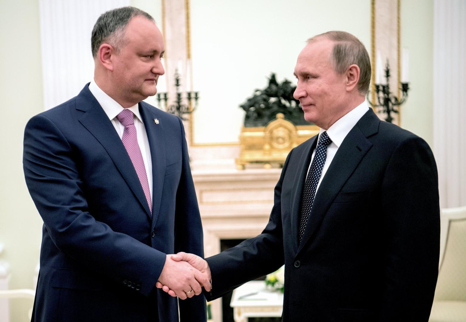 Președintele Igor Dodon, favoritul lui Putin pe scena politică moldovenească
